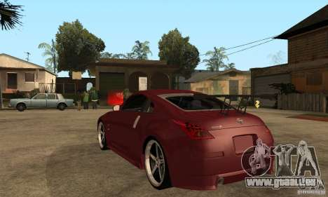 Nissan 350Z JC2 pour GTA San Andreas sur la vue arrière gauche