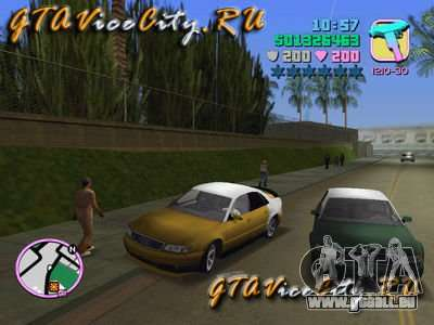 Audi S8 Tuning pour GTA Vice City