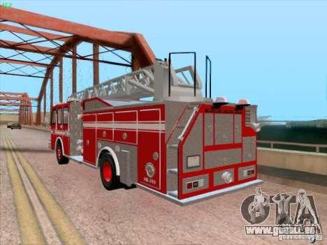 Camiao Dos Bombeiros ABE CBMESP pour GTA San Andreas vue de côté
