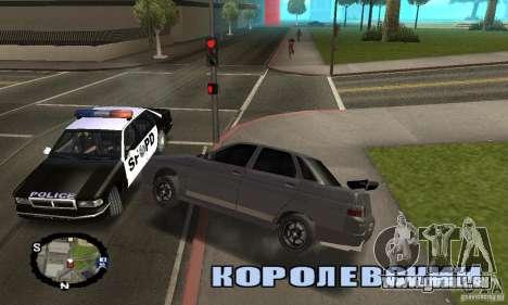 Courses de rue pour GTA San Andreas cinquième écran