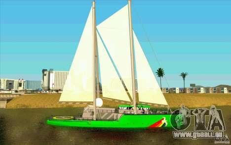 Rainbow Warrior pour GTA San Andreas laissé vue