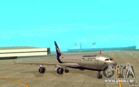 L'IL-96 300 Aeroflot dans de nouvelles couleurs pour GTA San Andreas laissé vue