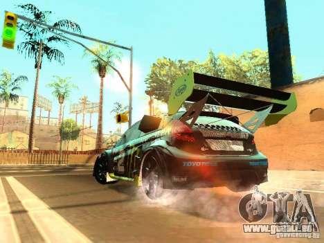 Ford Fiesta Rally Time für GTA San Andreas Rückansicht