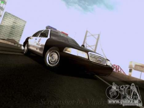 Ford Crown Victoria Los Angeles Police pour GTA San Andreas