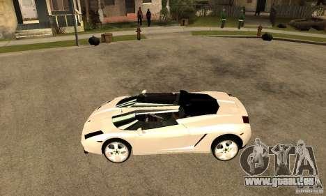 Lamborghini Concept S v2.0 pour GTA San Andreas laissé vue