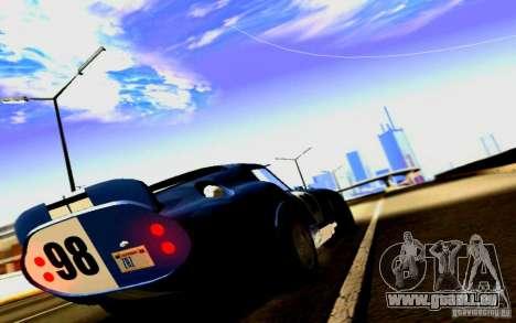 Shelby Cobra Daytona Coupe v 1.0 pour GTA San Andreas vue arrière
