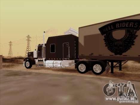 Kenworth W900 Long pour GTA San Andreas vue intérieure