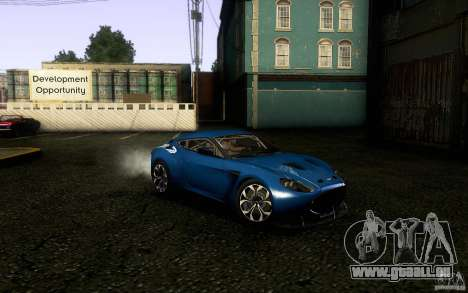 Aston Martin Zagato V12 V1.0 für GTA San Andreas Rückansicht