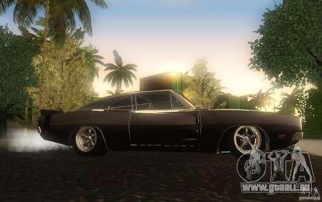 Dodge Charger RT 69 pour GTA San Andreas vue arrière