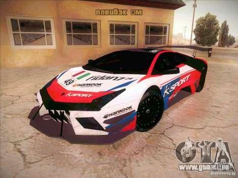 Lamborghini Reventon GT-R pour GTA San Andreas vue arrière