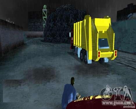 KAMAZ camion à ordures pour GTA Vice City sur la vue arrière gauche