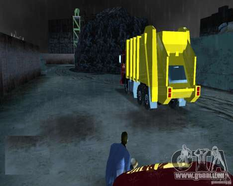 KAMAZ-Müllwagen für GTA Vice City zurück linke Ansicht