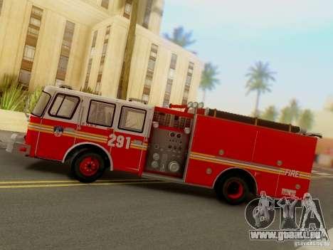 E-One FDNY Ladder 291 für GTA San Andreas Rückansicht