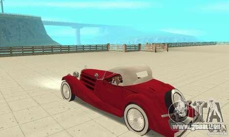 Mercedes-Benz 500K pour GTA San Andreas vue arrière