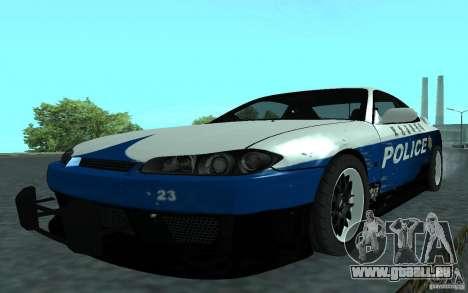 Nissan Silvia S15 Police pour GTA San Andreas sur la vue arrière gauche