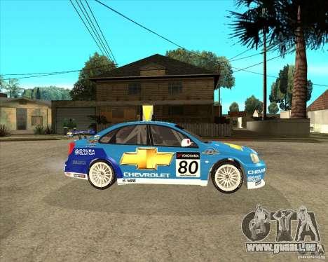 Chevrolet Lacetti WTCC für GTA San Andreas rechten Ansicht