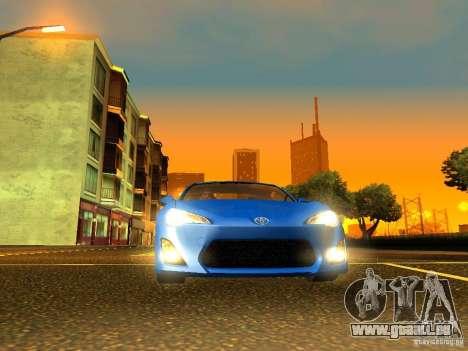 Toyota GT86 Limited pour GTA San Andreas vue intérieure