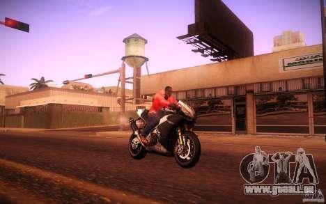 Aprilia RSV-4 Black Edition für GTA San Andreas rechten Ansicht