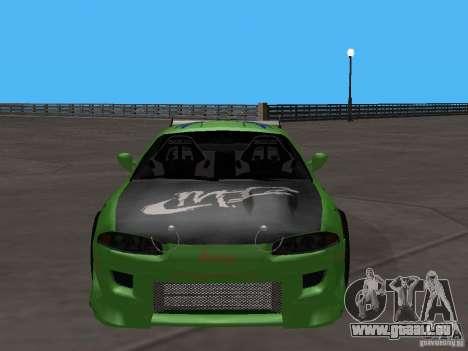 Mitsubishi Eclipse Tunable pour GTA San Andreas sur la vue arrière gauche