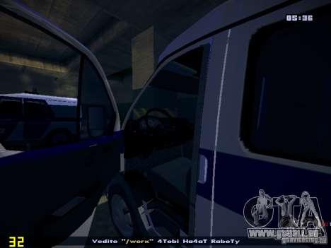 Gazelle 2705 Polizei für GTA San Andreas Rückansicht