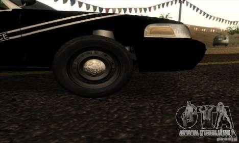 Ford Crown Victoria Idaho Police pour GTA San Andreas sur la vue arrière gauche