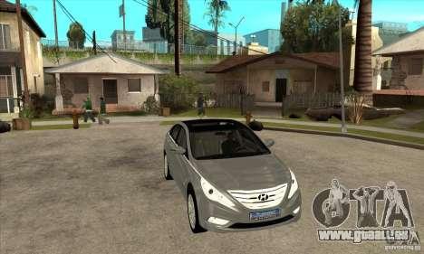 Hyundai Sonata 2011 pour GTA San Andreas vue arrière