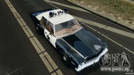 Dodge Monaco 1974 Police v1.0 [ELS] pour GTA 4 vue de dessus