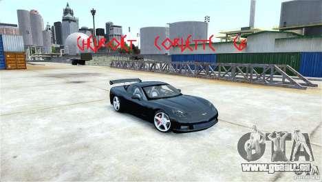 Chevrolet Corvette C6 Convertible v1.0 für GTA 4 Innenansicht