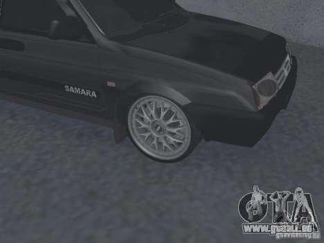 VAZ 2109 accordable pour GTA San Andreas sur la vue arrière gauche