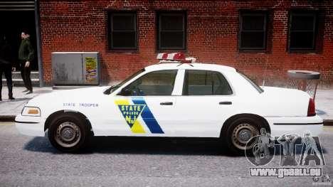 Ford Crown Victoria New Jersey State Police pour GTA 4 Vue arrière de la gauche