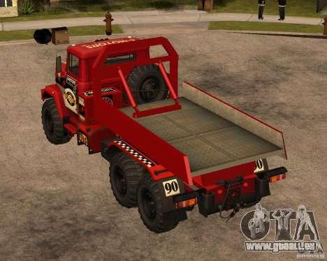 KrAZ-6322-Testversion für GTA San Andreas zurück linke Ansicht