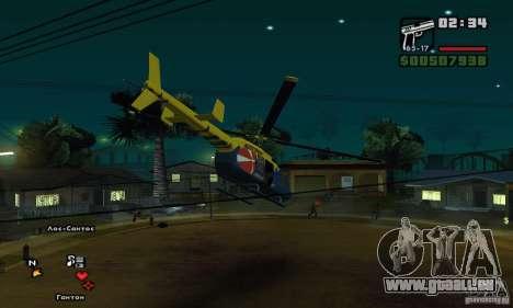 Helitours Maverick von GTA 4 für GTA San Andreas Rückansicht