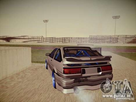 Toyota Corolla AE86 für GTA San Andreas obere Ansicht