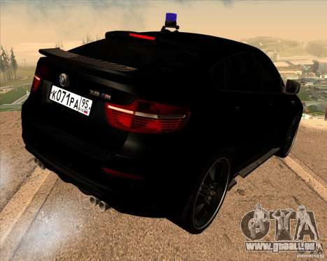 BMW X6 M E71 pour GTA San Andreas laissé vue