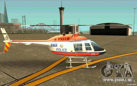 Bell 206 B Police texture2 pour GTA San Andreas sur la vue arrière gauche