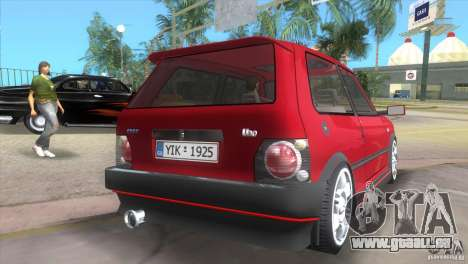 Fiat Uno Turbo für GTA Vice City linke Ansicht