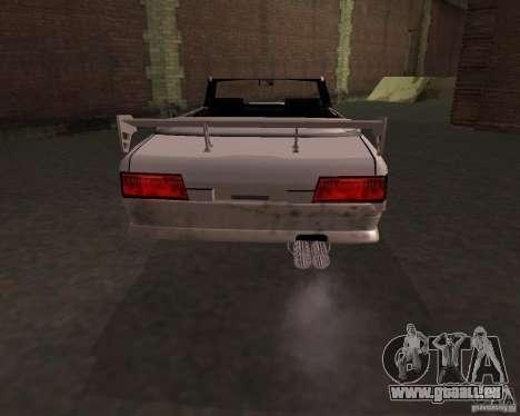 Taxi-Cabriolet für GTA San Andreas zurück linke Ansicht