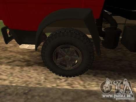 KAMAZ 5325 pour GTA San Andreas vue arrière