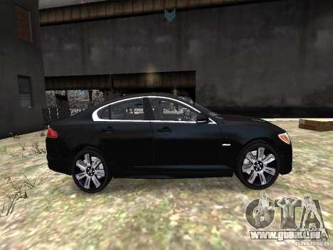 Jaguar XFR pour GTA 4 est une vue de l'intérieur