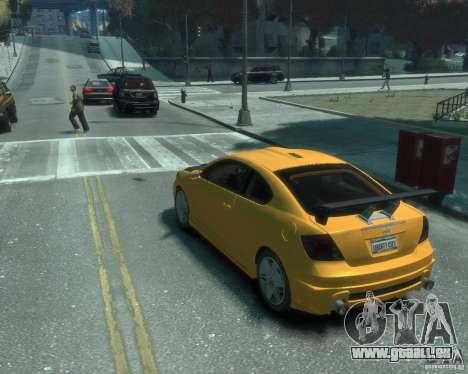 Toyota Scion Tc 2.4 pour GTA 4 est une gauche