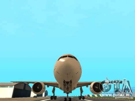 Boeing 777-200 Air France für GTA San Andreas Rückansicht
