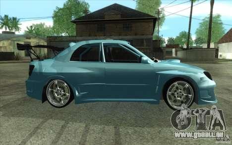 Subaru Impreza STI für GTA San Andreas Rückansicht