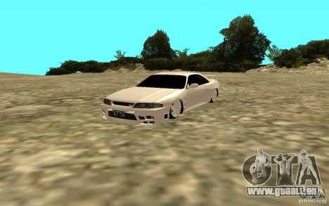 Nissan Skyline R33 für GTA San Andreas zurück linke Ansicht