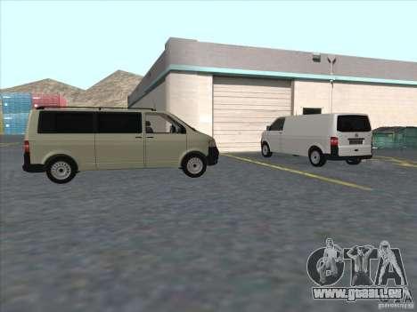 VW Transporter T5 2.5 TDI long für GTA San Andreas Rückansicht