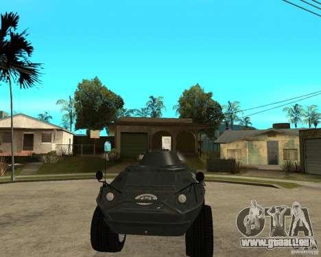 Der APC von GTA IV für GTA San Andreas Rückansicht