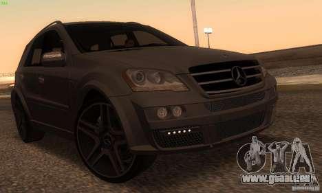 Mercedes-Benz ML63 AMG Brabus pour GTA San Andreas laissé vue