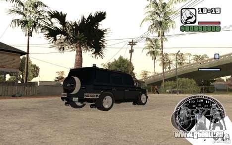 Mercedes-Benz G500 FBI pour GTA San Andreas sur la vue arrière gauche
