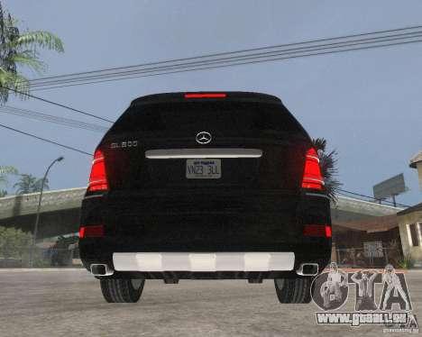 Mercedes-Benz GL500 SE für GTA San Andreas zurück linke Ansicht