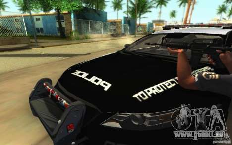 Ford Taurus 2011 LAPD Police für GTA San Andreas Innen