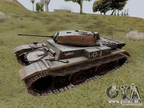PzKpfw II Ausf.B pour GTA San Andreas laissé vue